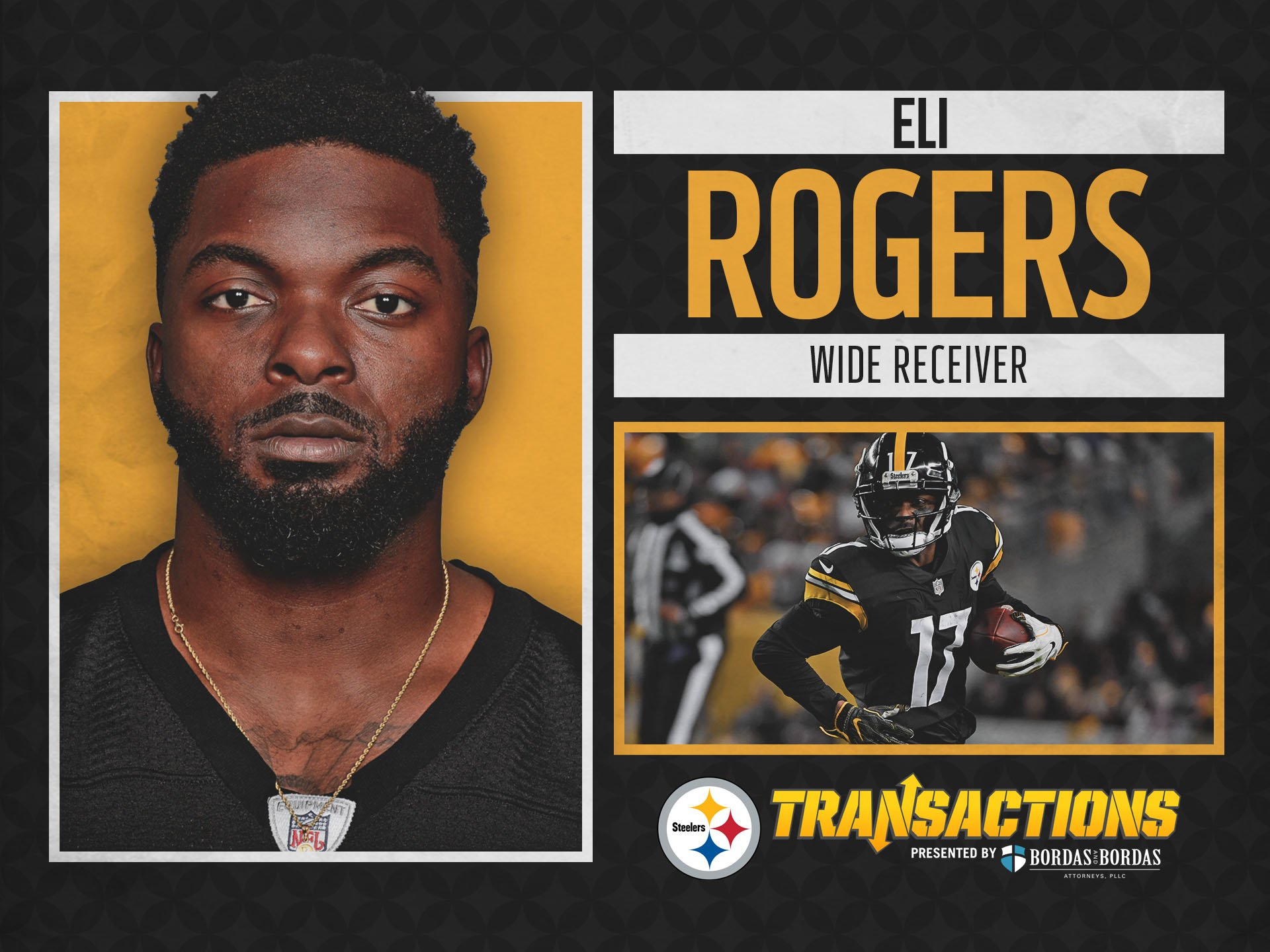 We have signed WR Eli Rogers to a new two-year deal.   @BordasLaw TRANSACTION: https://t.co/ew4G8Mh7UB https://t.co/kFQhNQ2QWv