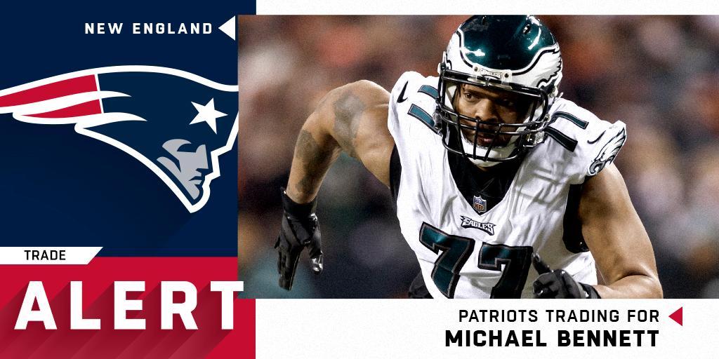 Eagles trading 3x Pro Bowl DE Michael Bennett to Patriots. https://t.co/qHjQfcDLJQ