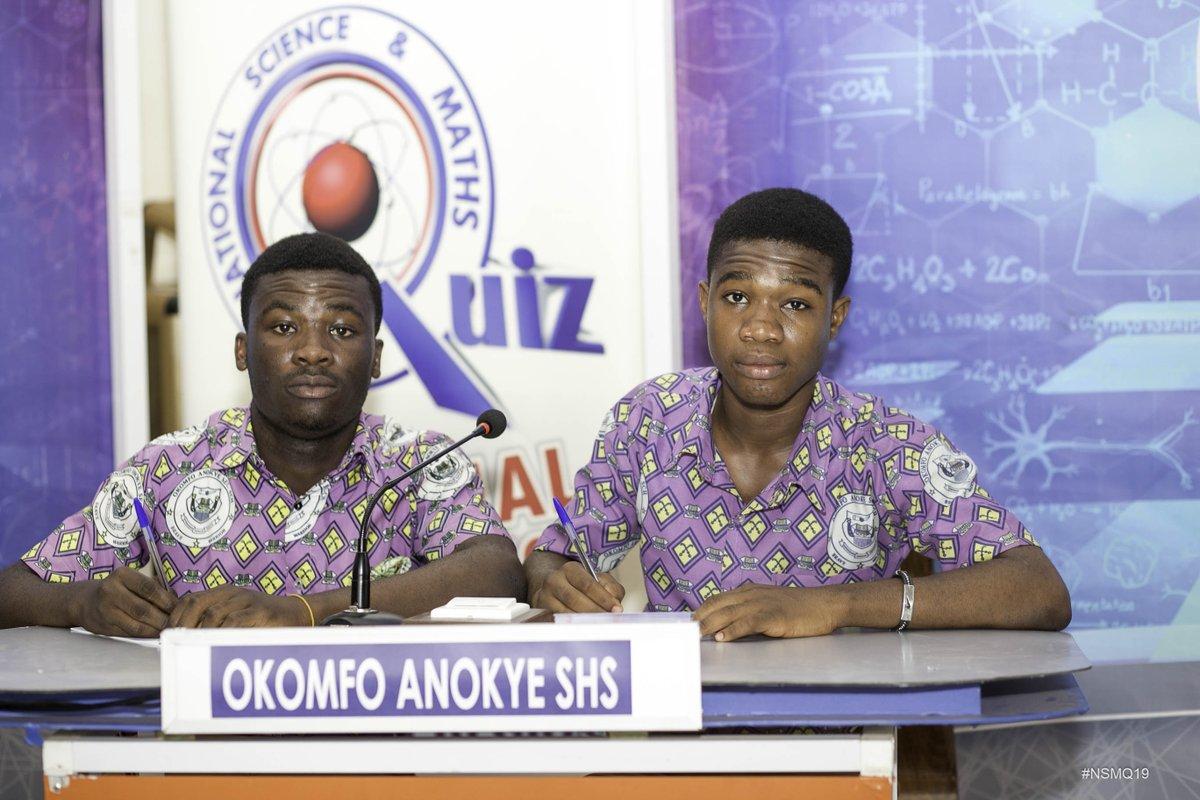 "NSMQ Ghana on Twitter: ""Kumasi: The last contest features Armed Forces SHTS, Mpasatia SHS, Dwamena Akenten SHS and Okomfo Anokye SHS #NSMQRegionals2019 #NSMQ2019… https://t.co/jmk12DVs2L"""
