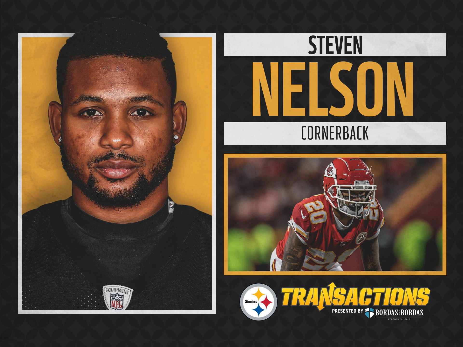 We have signed CB Steven Nelson to a three-year deal.  @BordasLaw TRANSACTION: https://t.co/FXMQsWhPZU https://t.co/DL1BNyMGZF