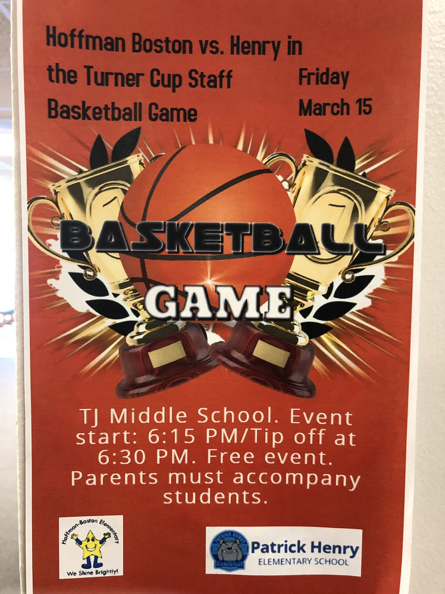 Looking for Friday plans? Come see some familiar faces play Basketball <a target='_blank' href='http://twitter.com/TJMS'>@TJMS</a> on 3.15.19 Doors Open 6 PM! <a target='_blank' href='http://search.twitter.com/search?q=PHESBulldogs'><a target='_blank' href='https://twitter.com/hashtag/PHESBulldogs?src=hash'>#PHESBulldogs</a></a> <a target='_blank' href='http://twitter.com/APSHenrySnyder'>@APSHenrySnyder</a> <a target='_blank' href='http://twitter.com/APSHenryPTA'>@APSHenryPTA</a> <a target='_blank' href='http://twitter.com/APSVirginia'>@APSVirginia</a> <a target='_blank' href='http://twitter.com/hfbPTA'>@hfbPTA</a> <a target='_blank' href='http://twitter.com/APSHPEAthletics'>@APSHPEAthletics</a> <a target='_blank' href='http://twitter.com/APSHenryMusic'>@APSHenryMusic</a> <a target='_blank' href='http://twitter.com/APS_HankHenry'>@APS_HankHenry</a> <a target='_blank' href='https://t.co/ceUw8Ydbiw'>https://t.co/ceUw8Ydbiw</a>