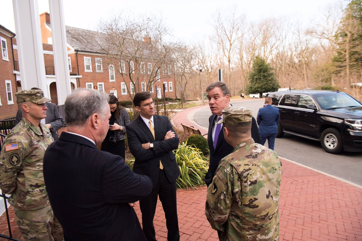 Thank you @MarkWarner & @timkaine for joining me this morning to meet our @Fort_Belvoir Families to discuss ways to resolve our current housing issues. We appreciate your unwavering commitment to our Soldiers and Families.