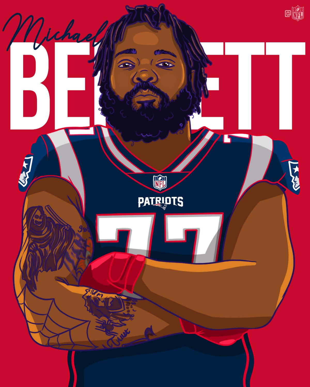 Michael Bennett  ➡ The defending champs. ��  @mosesbread72 | @Patriots https://t.co/LZGMNCKcaJ