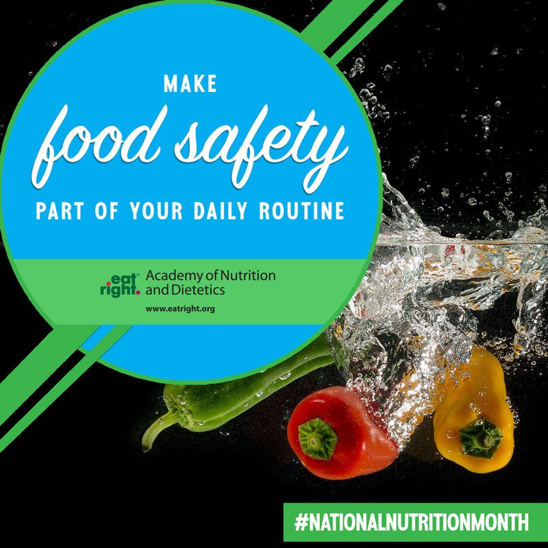 Reduce your risk of food poisoning by following these four easy steps: https://sm.eatright.org/4HFSsteps  #NationalNutritionMonth #FoodSafety