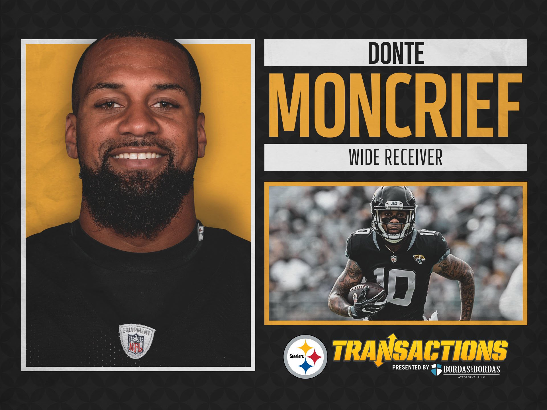 We have signed WR Donte Moncrief to a two-year deal.  @BordasLaw TRANSACTION: https://t.co/Qy42UtvMSG https://t.co/l0xYib4CjG