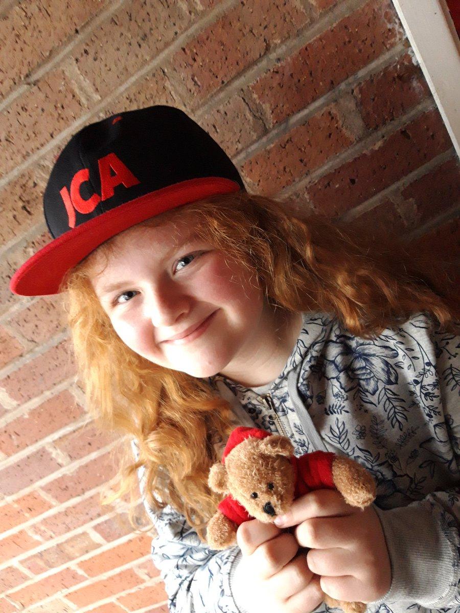 How cute is @ghosthostchris's daughter in her JCA beanie and cap 😍