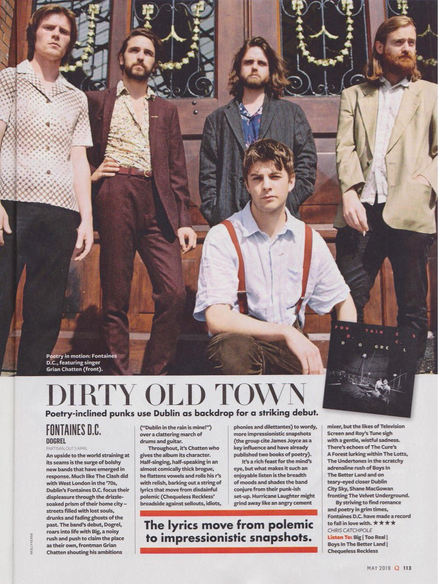 We got our first album review from @QMagazine   Dogrel is out April 12th via @partisanrecords   Link in bio to pre-order