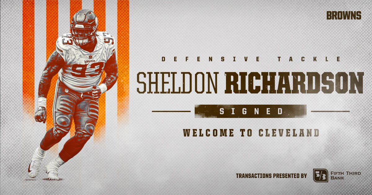 Welcome to Cleveland, Sheldon Richardson!  �� » https://t.co/9GeZeGuNQY https://t.co/v6yo1PuW0H