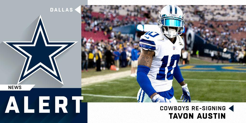 Cowboys re-signing WR Tavon Austin. (via @RapSheet) https://t.co/eh29GzTZ8C