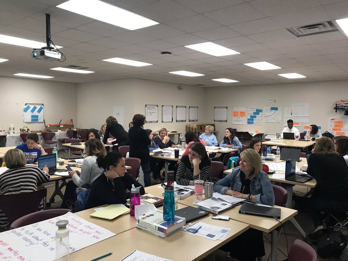 I so appreciate the professional community these coaches have developed, & their stance as learners! Great day! @OlentangySD #litcoach