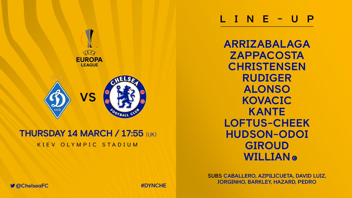 Here&#39;s how the Blues line up this evening!   #DYNCHE <br>http://pic.twitter.com/tLhgeY4wSq