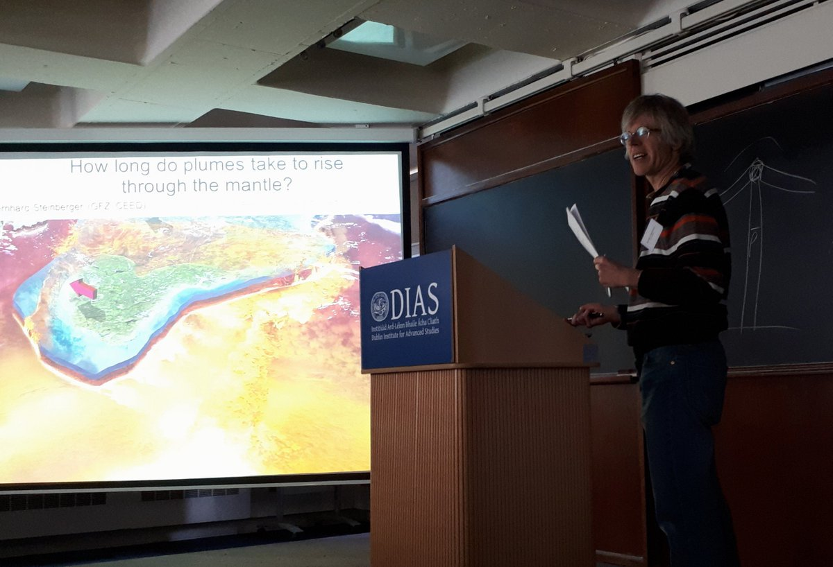 test Twitter Media - Today is the final day of the 3D Earth Science Meeting at DIAS. Pictured speaking at the conference here is Dr Bernhard Steinberger @GFZ_Potsdam, a collaborator with us DIAS scientists and the first author of our 2019 Nature Geoscience paper #DIASdiscovers https://t.co/lX4Zr1MW5x