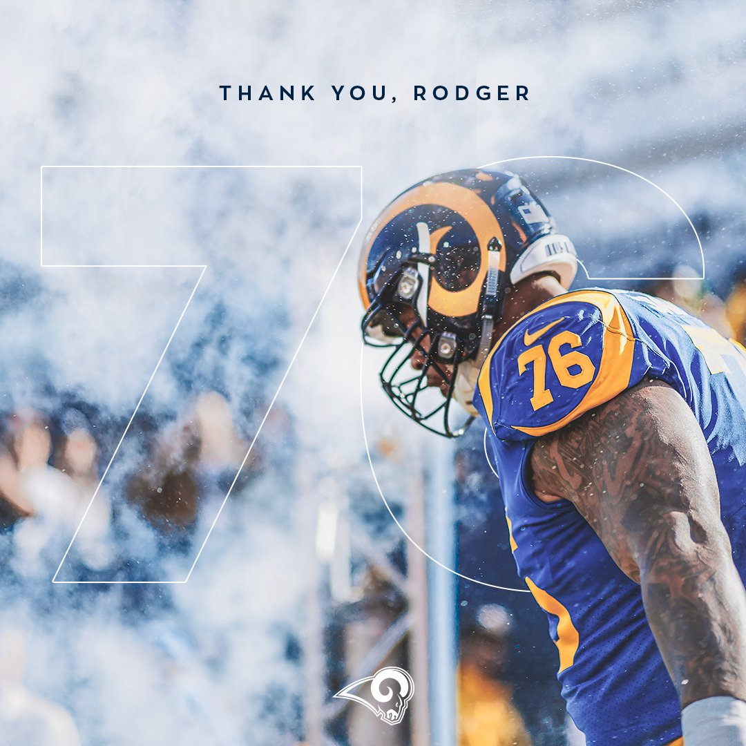 Nine seasons in the horns.  Thank you, @Rodger_Saffold. 💙