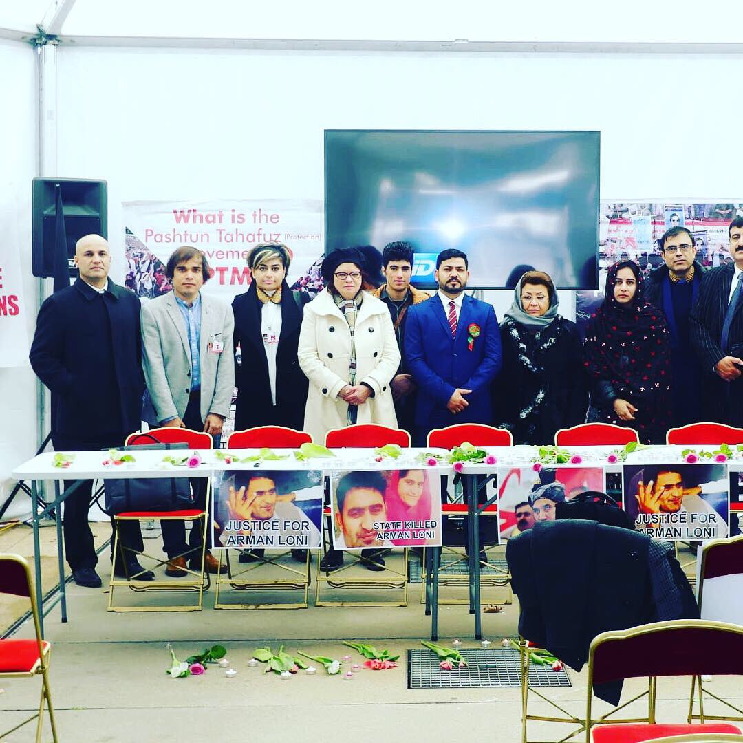 With #Pashtun (PTM) friends at the memory of #ArmanLoni in #Geneva United Nations, who was a university professor and linguist, was killed by #Pakistan intelligence agencies. @UN @UNHumanRights<br>http://pic.twitter.com/T3MIDMRaZh