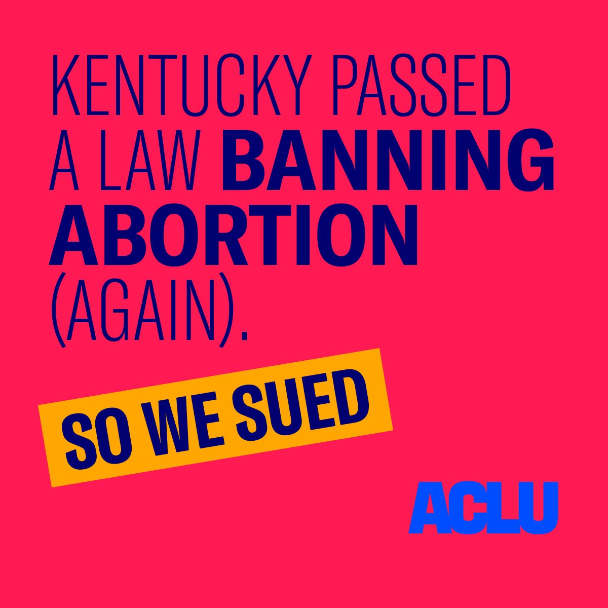 BREAKING: We've just filed a lawsuit to block the implementation of House Bill 5, which bans abortion if the reason is for the race, sex, national origin, color, or disability status of the fetus https://www.aclu-ky.org/sites/default/files/field_documents/hb5_ban_complaint_filed.pdf … #HB5 #kyga19