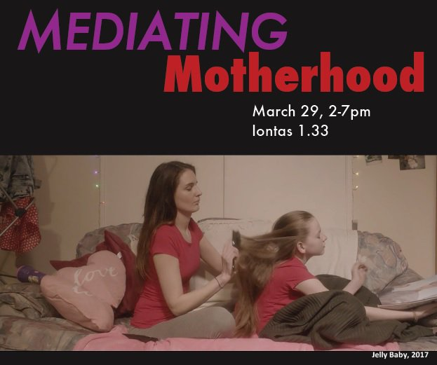 "Join us @MU_AHI on 29 March 2-7pm for the ""Mediating #Motherhood"" Symposium, featuring research by @JLags3 @ValeriHeffernan @julie77rodgers & @kirahussing, and screenings of ""Jelly Baby"" (2017, dir. @Naomi_Fagan) & ""Regretting Motherhood"" (2017, dir. @GrimmeMerle & @FelizitasH)!"