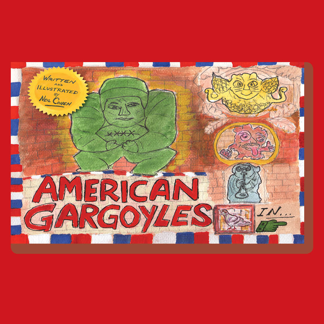 #NeilCohen presents #AmericanGargoyles at @bookculture in Long Island TODAY at 11:30am EST