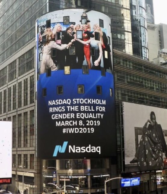 Made it to Time Square �@Nasdaq� #IWD2019