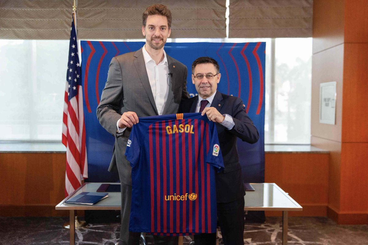 🏀 @paugasol is back!  He returns to Barça as the Club's ambassador in the United States 🇺🇸  Full story 👉 http://ow.ly/Zres30o39uN   🔵🔴