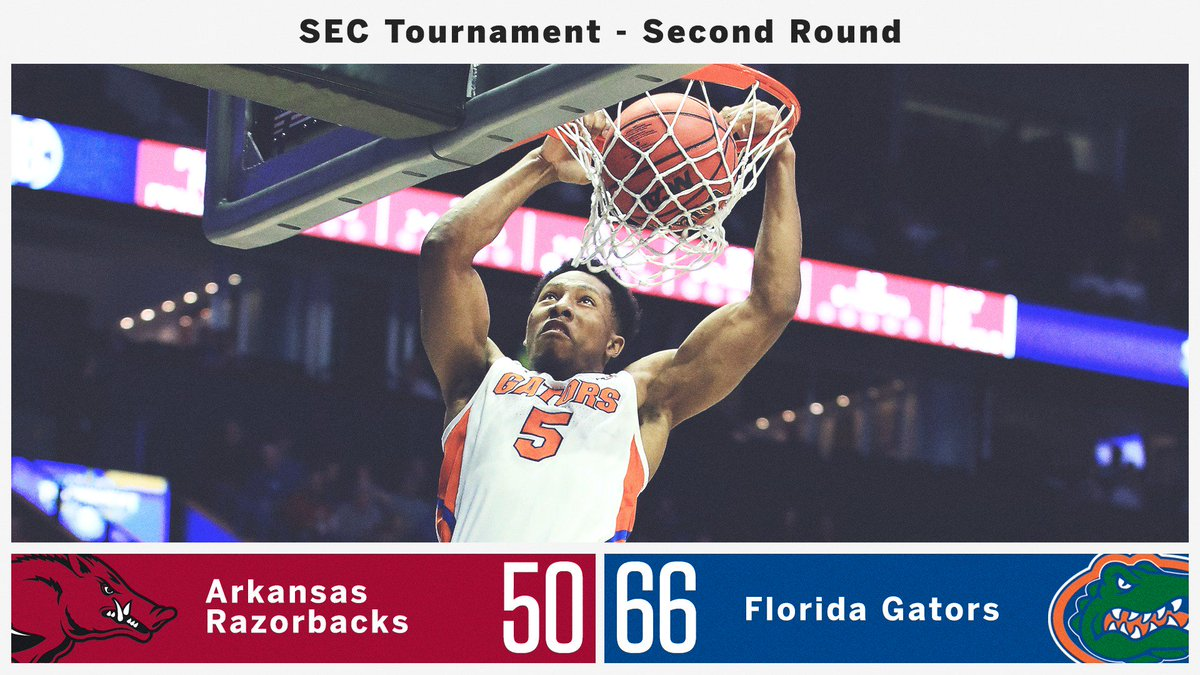 Chomp! Chomp! @GatorsMBK is moving on to round 3⃣ of the #SECTourney