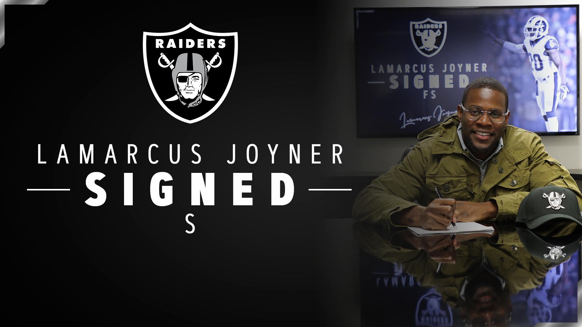 Didn't forget about the defense.  We have signed safety Lamarcus Joyner: https://t.co/64qZKdGIVm #RaiderNation https://t.co/OuviS4MkBr