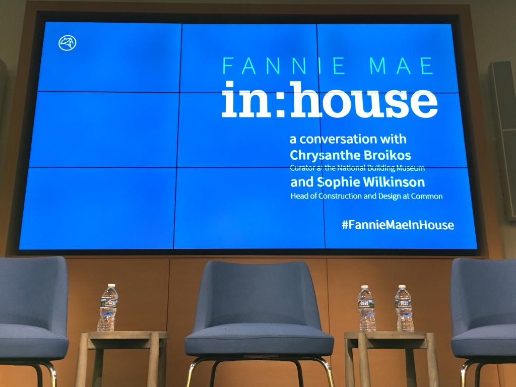Welcome @buildingmuseum's Chrysanthe Broikos and @hicommon's Sophie Wilkinson to our second #FannieMaeInHouse event! Looking forward to their insights on how new housing options can help ease our country's housing affordability crisis.