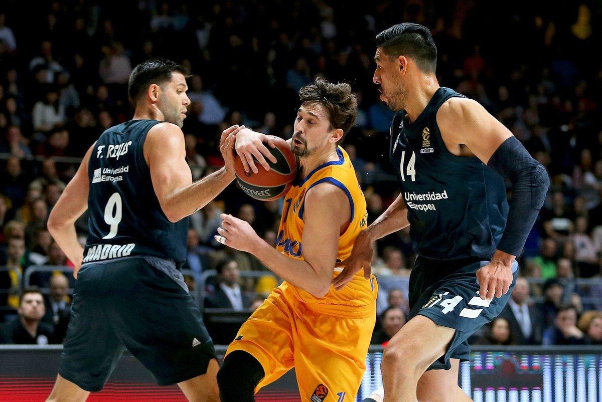 Igualar a 'La Bomba' Navarro como jugador con más partidos en @EuroLeague es un honor. Ganar con el Real Madrid en Europa es la mejor victoria. #HalaMadrid 💪👌 🏀