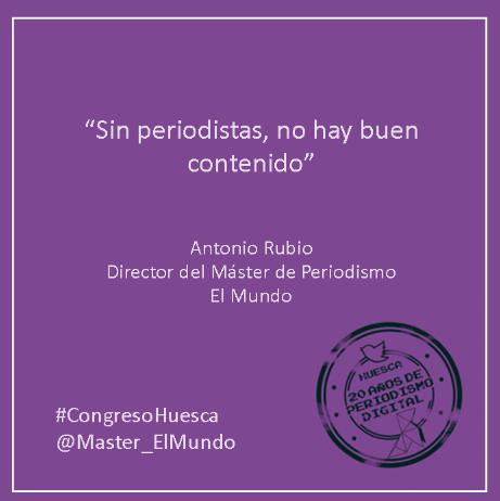Máster en Periodismo's photo on #CongresoHuesca