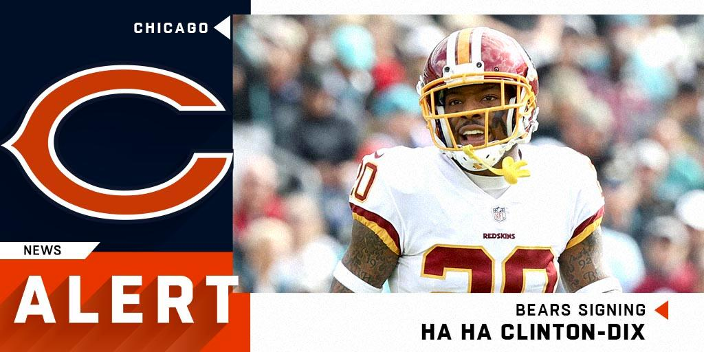 Bears signing safety HaHa Clinton-Dix to one-year deal. (via @RapSheet + @MikeGarafolo) https://t.co/Jn0nktbtqe