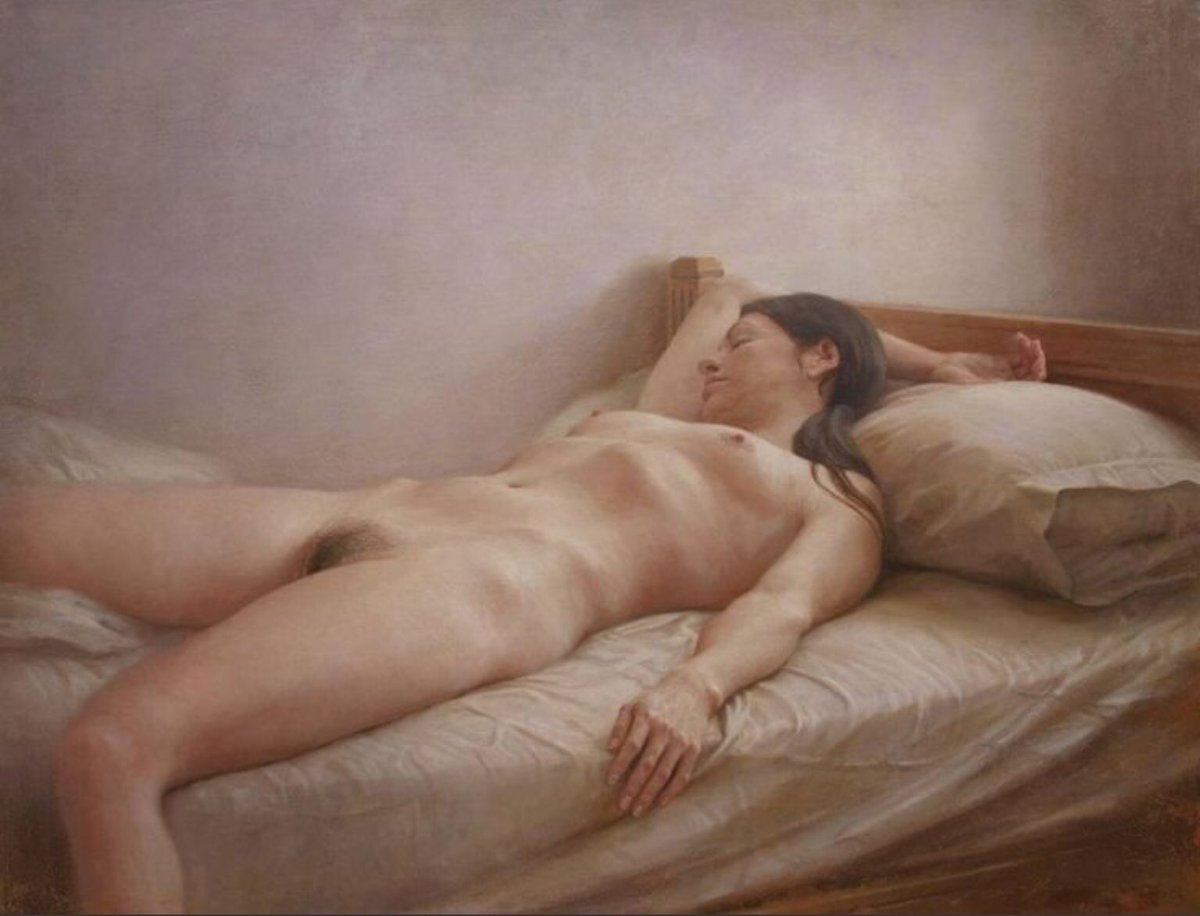 Sleeping Nude Painting By Badia Camps