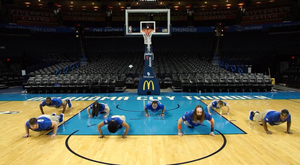#NBAFit Week is underway... Day 2: Pushups   Take the daily challenge and tag your entries with #FitWeekChallenge for a chance to win Thunder prizes!