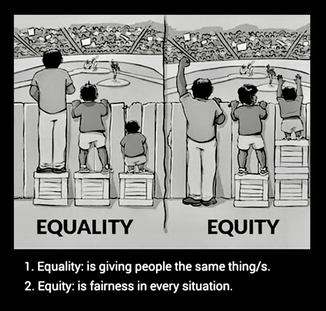 Equality  vs   Equity    #1u #canlab #UnionStrong #Resist #Resistance #ThursdayThoughts <br>http://pic.twitter.com/jQpCLrGghf
