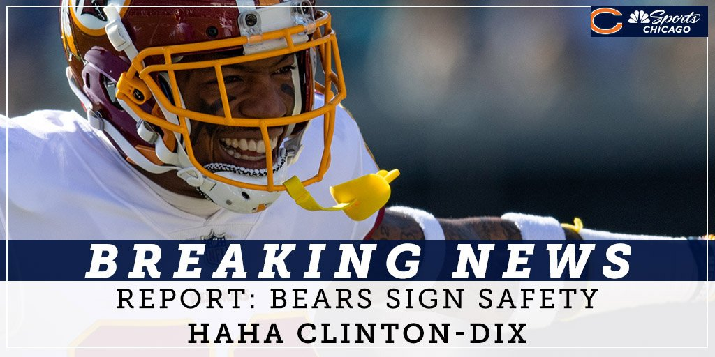 Bears fill need in secondary with Ha Ha Clinton-Dix signing   https://www. nbcsports.com/chicago/bears/ bears-fill-need-secondary-signing-ha-ha-clinton-dix-amos-packers-defense-nfl-free-agency-rumors &nbsp; … <br>http://pic.twitter.com/4tPjSp26iU