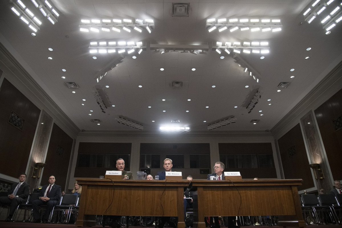 DOD leaders went to Capitol Hill to make the case for the Defense Department's request for fiscal year 2020. Read More: https://go.usa.gov/xEHQd