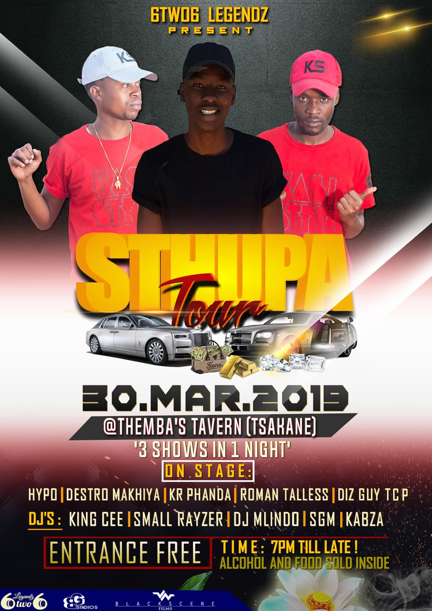 "This is our Last Stop for the #SthupaTour🔥 ""3 Shows in 1 Night"" Less Geddit🤘 2 Quantums Available, Book your seat Now⏳ @6two6Legendz 😇"