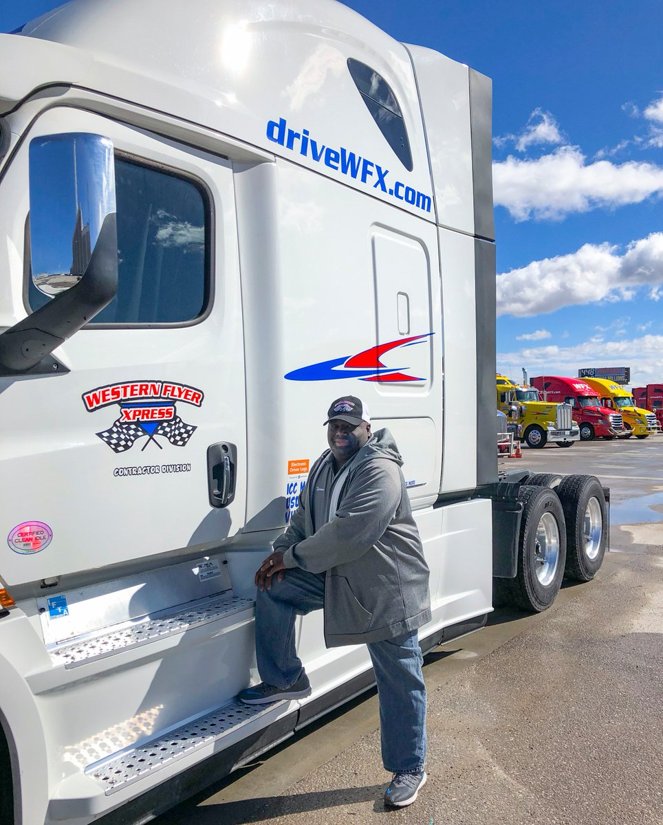Tyrone is a contractor that's been with us for 4+ years.  We love to see him come into the OKC terminal as he's always cheerful and ready with a story or joke.  #drivewfx #OTRdriver #cdldriver #cdlContractor #drivethedream #driven #leasetoown #owneroperator #ontheroad