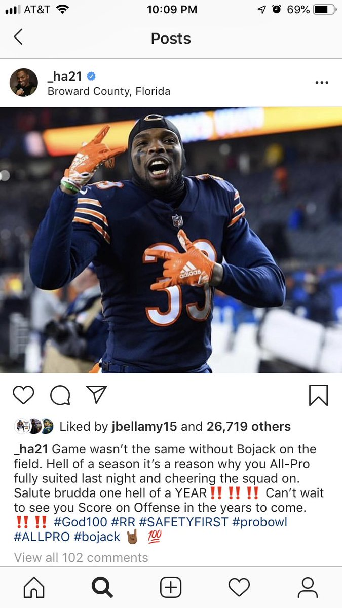 Ha Ha Clinton-Dix posted this to Instagram after the Bears lost to the Eagles. The friendship between him and Eddie Jackson is real. <br>http://pic.twitter.com/RmEFBtq2ux
