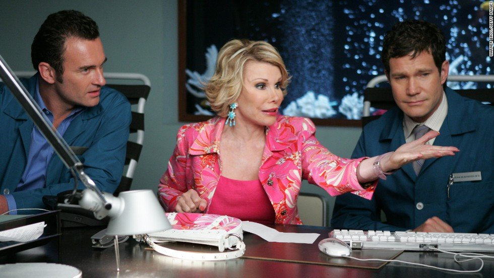 #TBT from @melrivers: Remember when my Mom wanted to undo all of the plastic surgery she'd ever had? Only in Hollywood! Here she is on the season finale of Nip/Tuck in 2004. <br>http://pic.twitter.com/BTAd2Htp2u