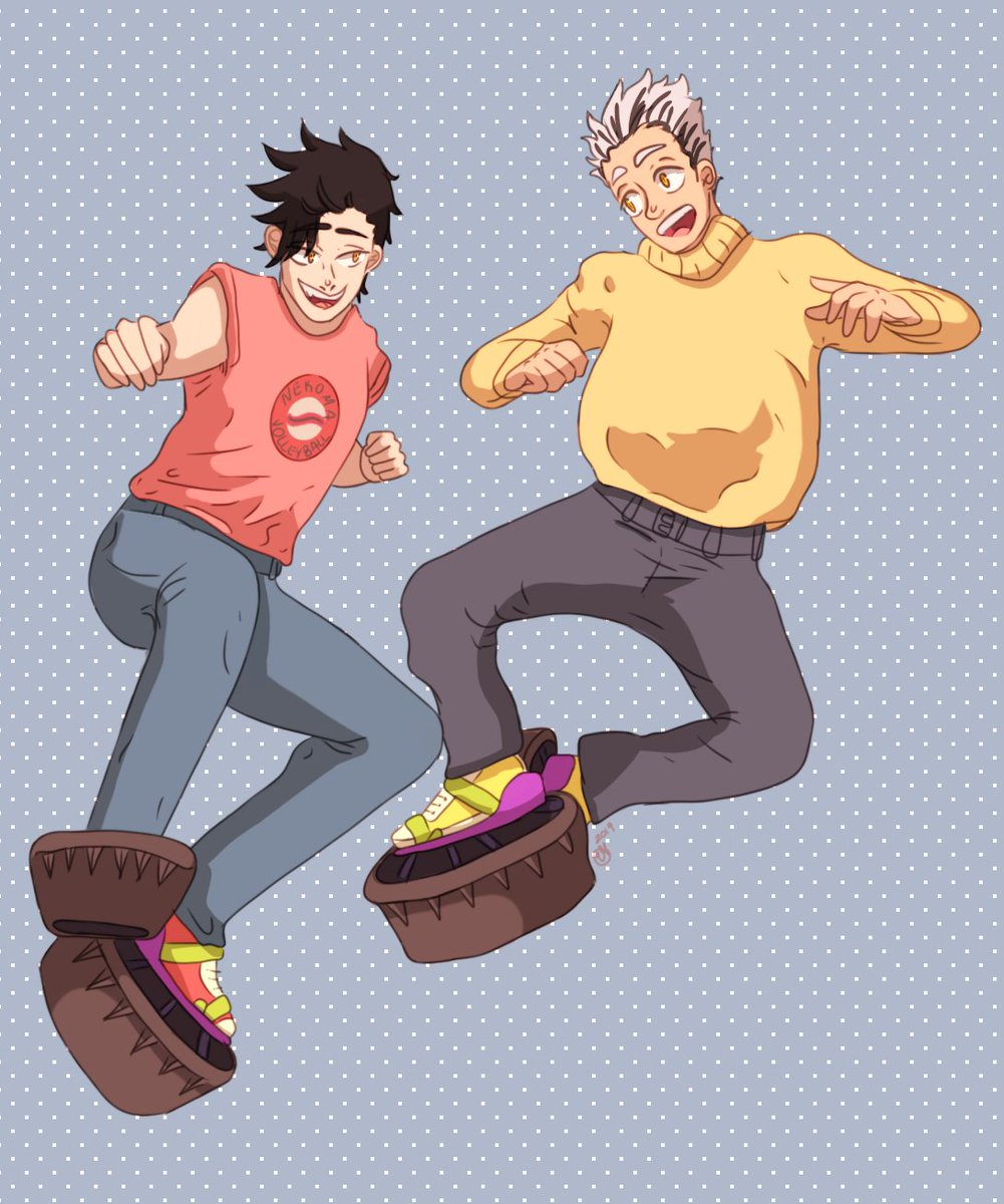 ITS BEEN DONE. #moonshoes #haikyuu #bokuto #kuroo #digitalart