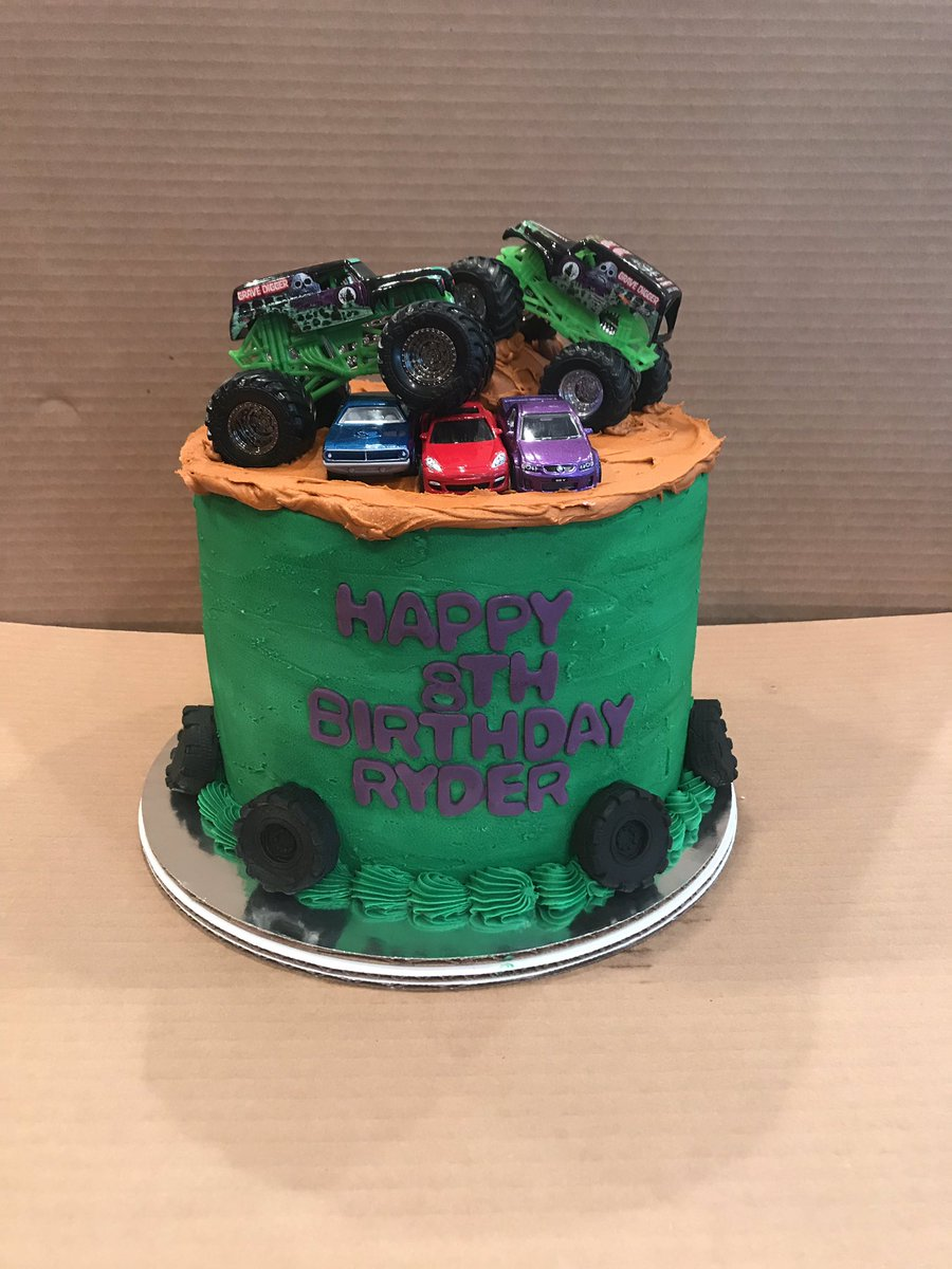 Wondrous Minis By Maria On Twitter Grave Digger Themed Cake Monsterjam Funny Birthday Cards Online Alyptdamsfinfo