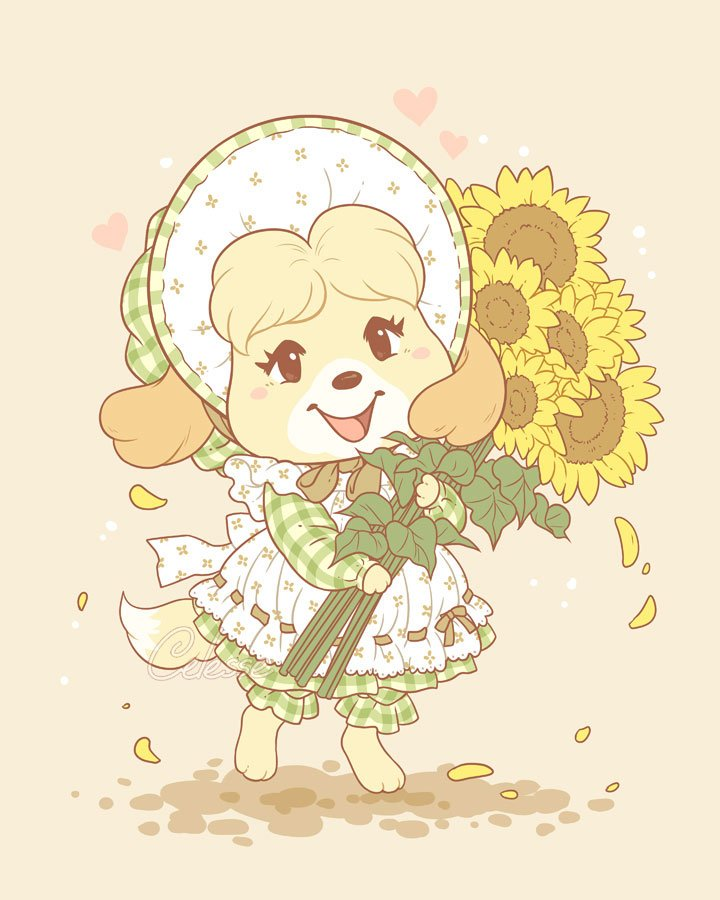 'I thought these would look lovely in your office, Mayor!' 🌻💚 #AnimalCrossing