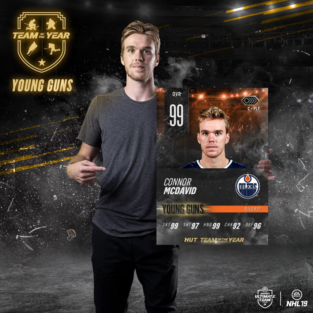 Anyone interested in a Connor McDavid Team of the Year? 😏  RT for a chance to win one! 👀 #NHL19TOTY