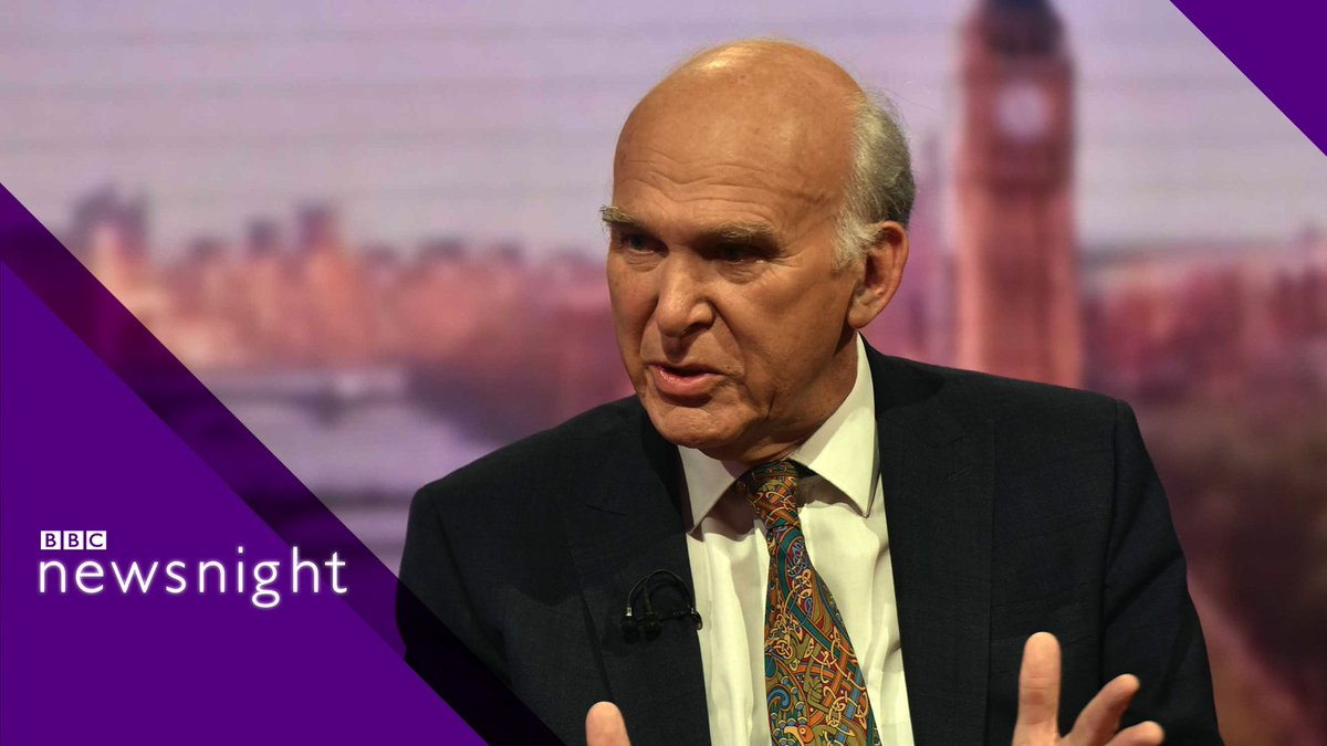 BBC Newsnight's photo on Sir Vince Cable