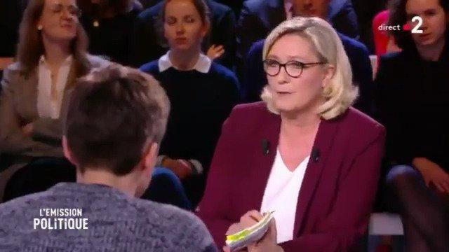 Marine Le Pen's photo on Attali