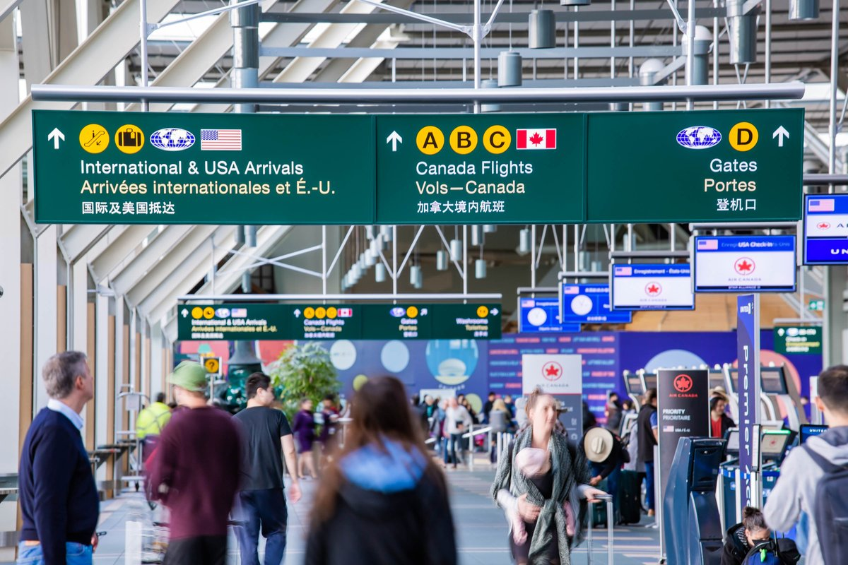 """Vancouver International Airport (YVR) on Twitter: """"Are you travelling  during Spring Break? Make sure you have a transportation plan before you  leave! We're expecting over 75,000 passengers a day.  https://t.co/tg5bqdpuzC… https://t.co/TgFT7cirAz"""""""