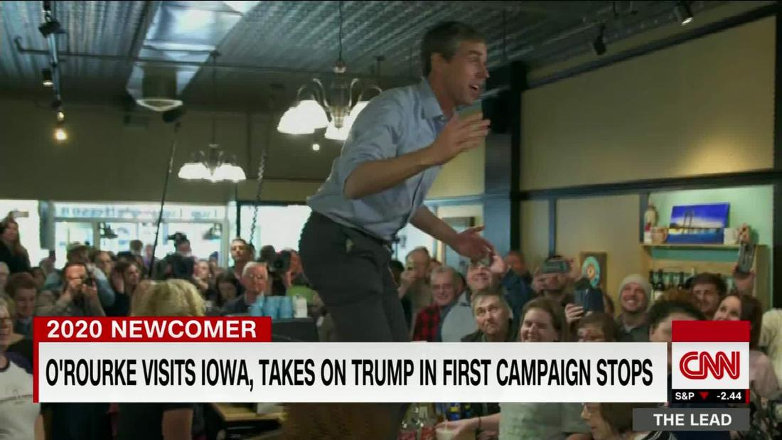 Beto O'Rourke visits Iowa, draws Trump fire, in first 2020 campaign trip @jeffzeleny reports @TheLeadCNN https://cnn.it/2HoBR4m