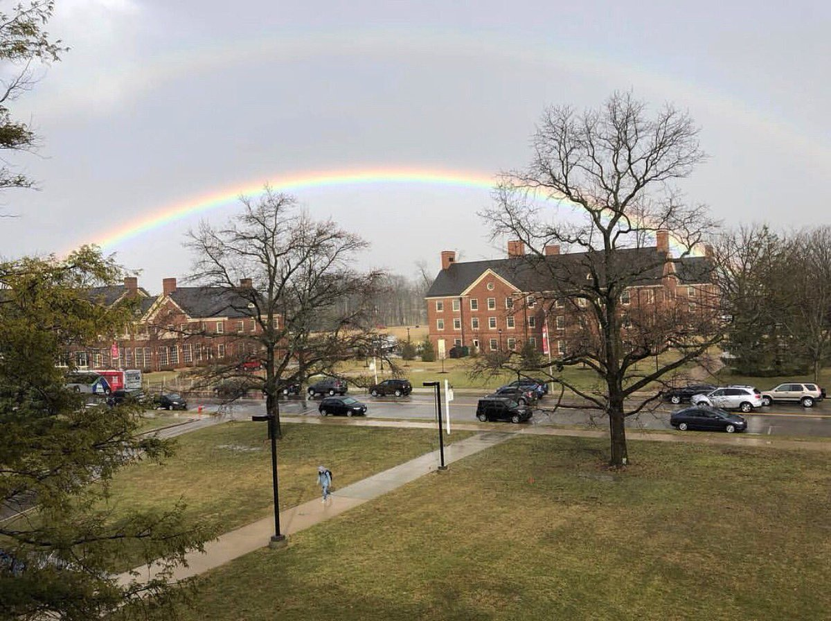 Miami University's photo on #rainbow