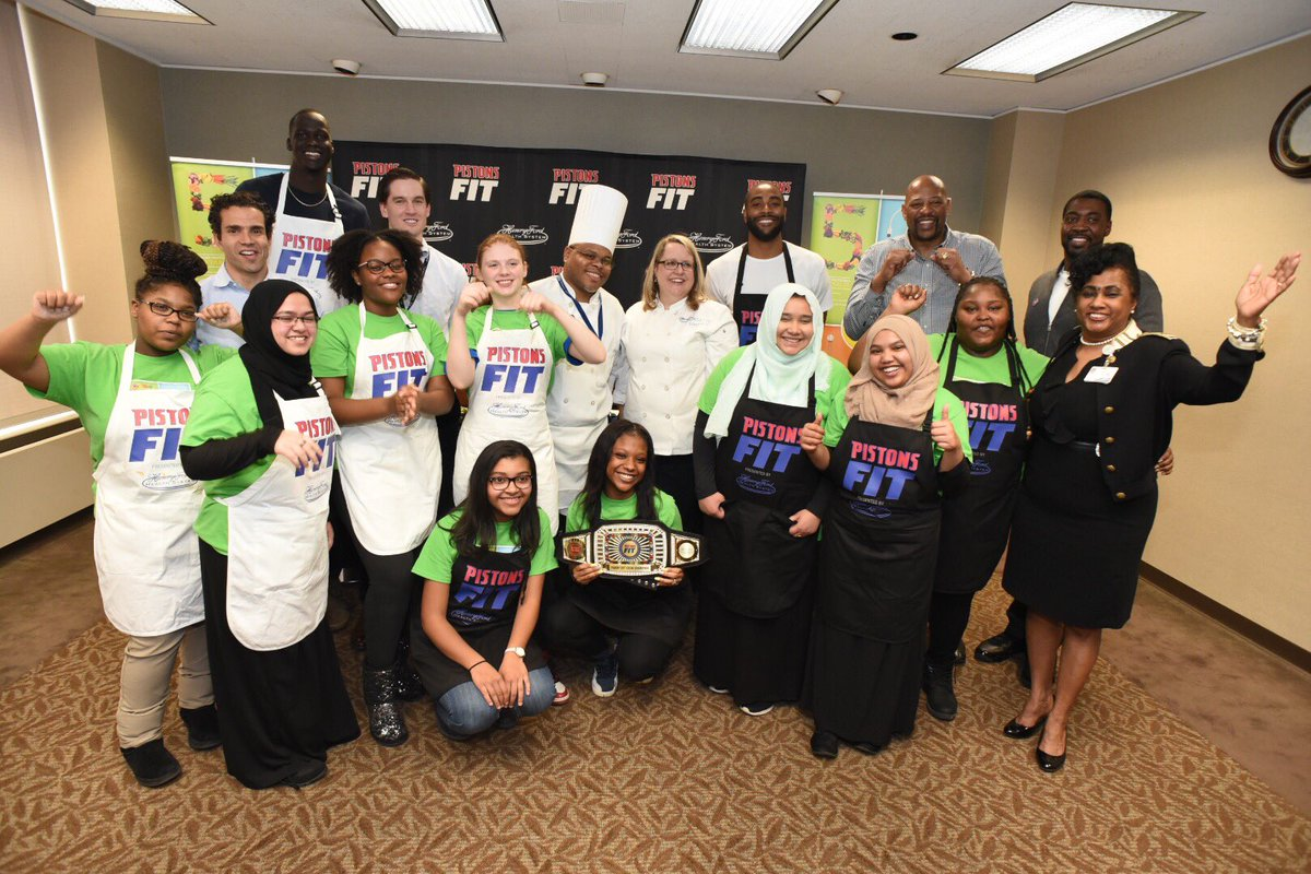 Thanks to everybody who participated in our #PistonsFit cooking competition tonight! #GWP