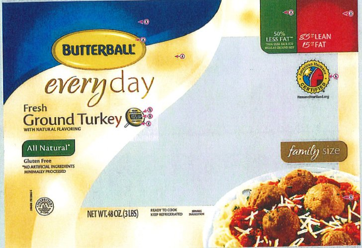 Butterball recalling 39 tons of ground turkey after 4 salmonella cases