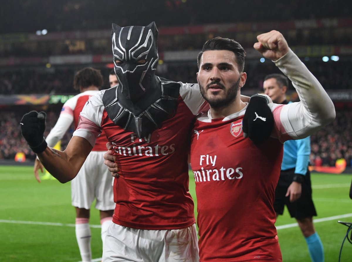 From Batman to Black Panther! #Aubameyang #WakandaForever  <br>http://pic.twitter.com/dHSTVUXVGW